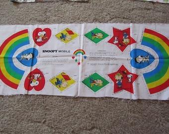 Multicolored Peanuts Gang Mobile  Panel