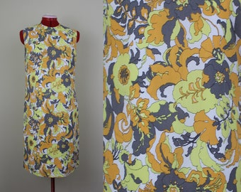 Psychedelic Poppy Dress ||| 1960s ||| Size Small ||| Size 4 ||| Retro Day Dress