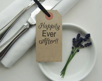 Wedding Place Cards-Wedding Table Decor-Wedding Napkins-Happily Ever After-Rustic Wedding-Wedding Table Ideas-Wedding Reception-Weddings
