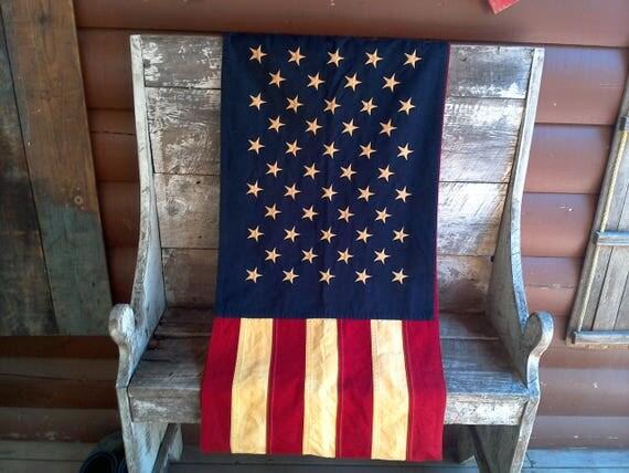 USA Casket Flag, Large Flag, American Flag, Wall Hanging Flag, Tablecloth Flag, Primitive Decor Flag