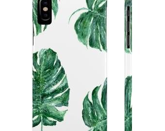 Palm Leaf iPhone X Case palm leaf case, palm leaf phone case, palm leaf iPhone, monstera leaf case, tropical leaf case, iPhone X case