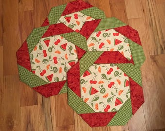 Slices of Summer placemats set of 4