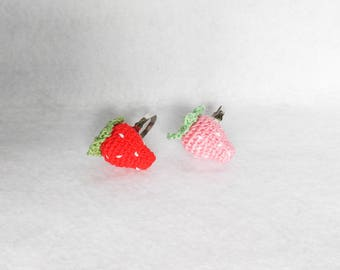 Crochet Strawberry Ring