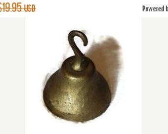 Cast Iron Bell, Vintage Cast Iron Metal Bell, Large Bell, Brass Finish, Christmas Bell, Rustic Bell, Farmhouse decor, Rustic home decor