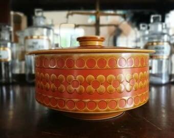 ホーンジー サフラン キャセロール Hornsea saffron series tureen, casserlore. 70s Retro design