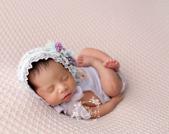 Newborn Photography Fabric Backdrop -  Emery Knit Backdrop - Blush - Newborn Backdrop Posing Fabric
