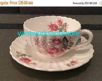 Crazed China Sale Spode Copeland Dubarry Tea Cup & Saucer, English Tea Cup, Tea Cup Collection, Vintage 1950s, Crazed China On Sale