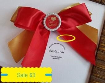 Sale: 49er hair bow