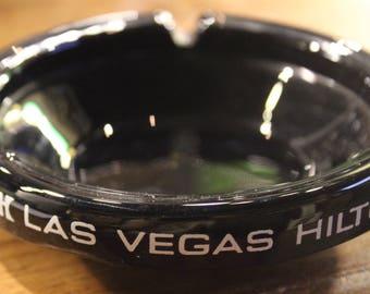Vintage Black-Colored Las Vegas Hilton Ashtray