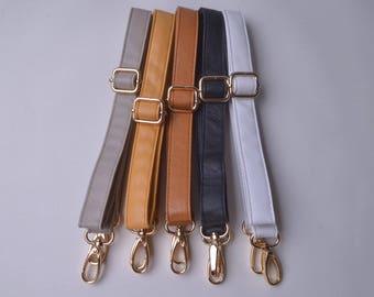 1pcs 41''-47'' Soft Purses Straps,Fuax leather Adjustable bag straps,Replacement Cross Body Purse Straps,Soft leather straps wt0338