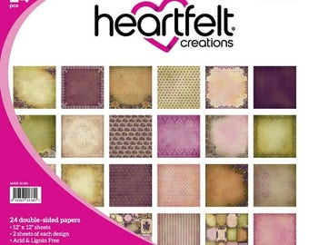 ON SALE Heartfelt Creations Double Sided 12x12 Paper Pad Burst of Splendor Collection