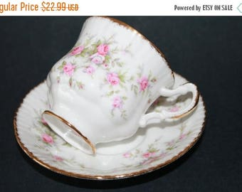 "ON SALE PARAGON Fine Bone China Demi tasse Teacup and Saucer Sets ""Victoriana Rose"""