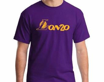 Lonzo Ball Tee Shirt Los Angeles Lakers LA