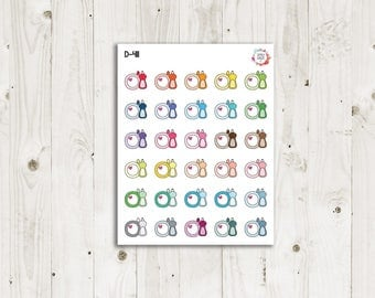 Dish Soap/ Wash Dishes Planner Stickers - ECLP Stickers