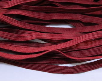 elastic Ribbon 5 meters flat Burgundy