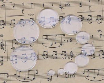 Glass Cabochon glass dome glass insert glass tile round flat 8mm-40mm