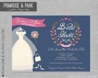 Bridal Shower Floral Invitation Printable // Floral Invitation // Printable or Digital File