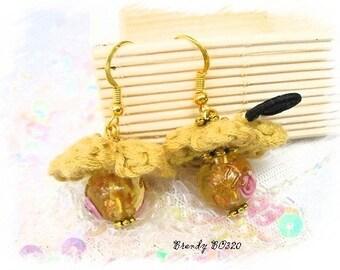 Floral knit Brendy BO320 earrings