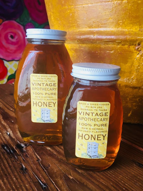 RAW LOCAL HONEY {North Texas - South Oklahoma Area, Wild Flower, Cotton, Mesquite Blend, Pound & Half Pound}