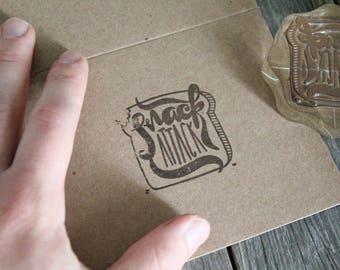 """Custom Logo Stamp ( 2.5"""" x 2.5"""" )  - Custom Stamp - Customized Stamp - Personalized Rubber Stamp - Stamp Custom - Clear Rubber Stamp"""