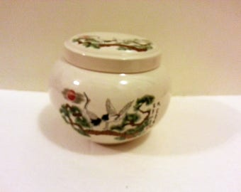 Ceramic Asian Canister with Lid
