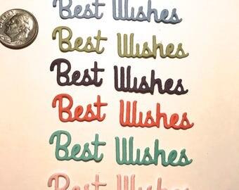 Best Wishes Die Cut Script