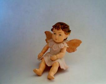 Baby Apple Blossom Fairy - Flower Fairy - Fairy Garden - Terrarium - Miniature Gardening - Accessories - Cicely Mary Barker Fairy