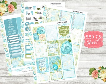 Botanical Bliss - Planner Sticker Kit - 3 sizes - Floral Stickers - Erin Condren Planner / Happy Planner / Personal Planners