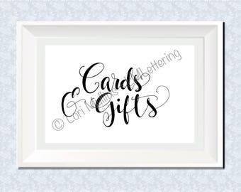 8x10 Wedding Sign - Downloadable - Printable - Hand Lettered - Digital Art Print