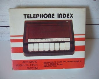 Telephone Index - Automatic Push-N-Open System - Vintage Phone Index
