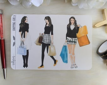 Shopping Girls, Planner Stickers