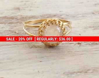 moonstone ring, moonstone ring gold, stacking ring, gemstone ring, moonstone, stacking rings, jewelry - 9011