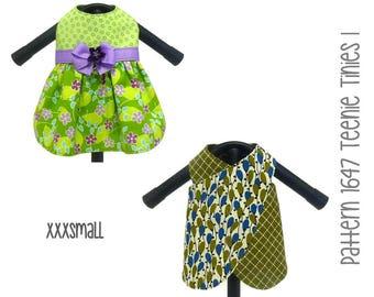 Teenie Tinies I Dog Dress Pattern 1647 * XXXSmall * Tiny Dog Clothes Sewing Pattern * Tiny Dog Harness Dress * Tiny Dog Apparel