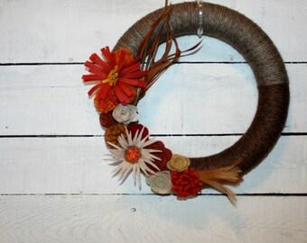 Fall Wreath | Fall Decor | Indoor Wreath | Wall Wreath | Wall Decor |Custom Wreath