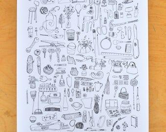 Art supplies/ Drawing/ Pen and Ink / Studio / Tools
