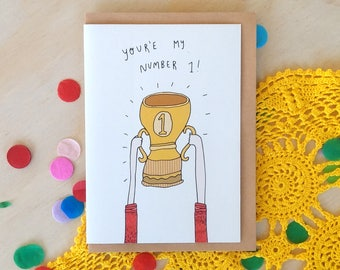Greeting Card - Number One
