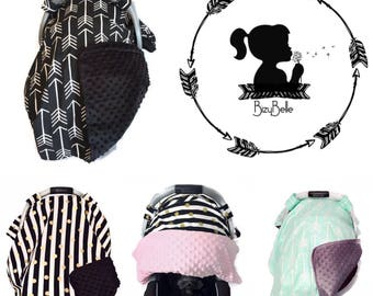 ANNIVERSARY SALE • BizyBelle • Carseat Canopy • Carseat Covers • Chic Modern • You Pick Fabric • Minky