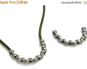 10% OFF Textured Curved Tube Necklace Slider Qty. 1