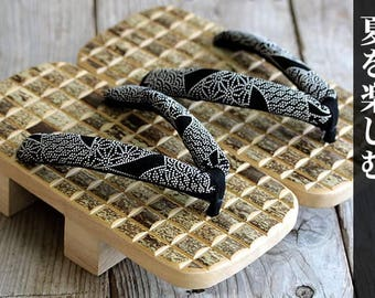 Japanese Traditional Sandal Geta Made of Bamboo