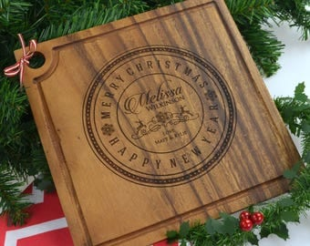 Christmas Engraved Deluxe Square Chopping Board