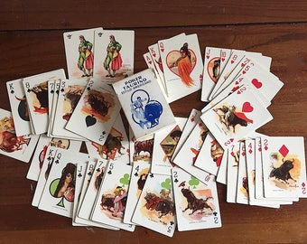 Vintage Playing Cards - Bullfight Playing Cards -Poker Taurino Estilo Americano -Vintage Deck of Cards -Bullfighting Art - Bullfighting Gift