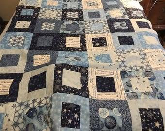 Winter's Grandeur Quilt Top 50x60