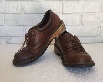 Vintage Women's Size 8 Brown Leather Oxfords