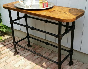 Vintage Industrial Kitchen Island Entry Table Sideboard