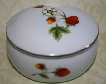 Vintage Trinket/Catch -All  Dish with Strawberries -OMC China