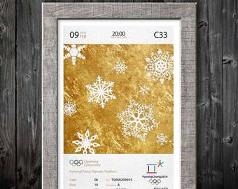 2018 Winter Olympics Opening Ceremony Oversize Ticket Poster