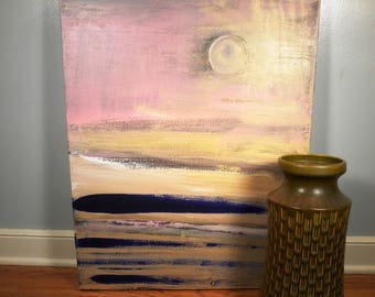 "Vintage Abstract ""seascape"" painting"