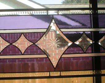 "Switcheroo  Stained Glass Window Panel (30 1/2"" x13 1/2"")"