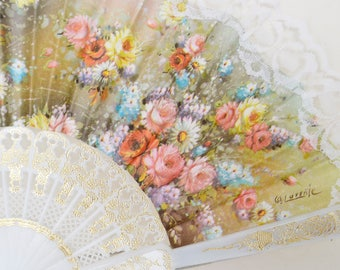 Spanish fan, Spanish handicraft, wedding gift, woman gift, girlfriend gift