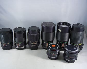 Bargain Manual Focus Lenses 28-210mm, for Pentax, Minolta, by Vivitar and Others